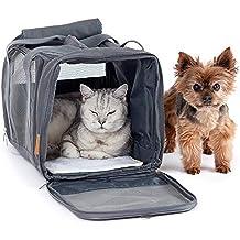 PiuPet® Transportin Gato y Transportin Perro pequeño | con Cama Polar | Transportin para Gatos