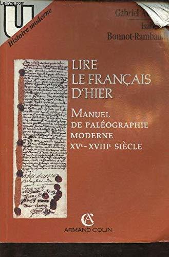 Lire le français d'hier