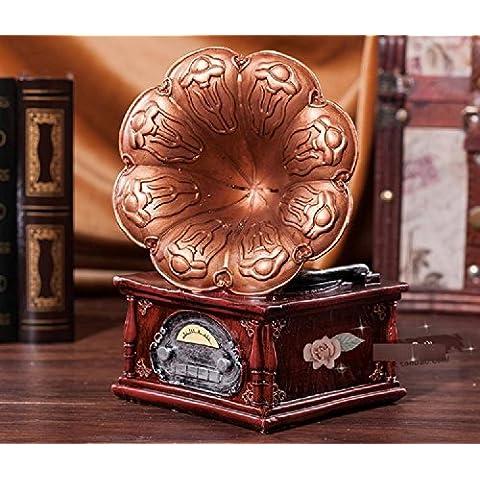 XJoel antigua del fonógrafo del fonógrafo Modelo del alto grado de muebles Decoración de bronce