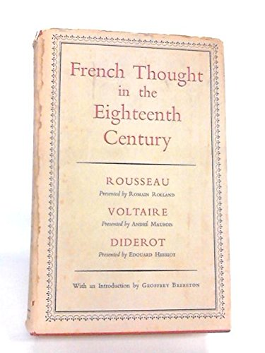 French Thought In The Eighteenth Century