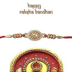 Idea Regalo - Braccialetto Rakhi for Brothers Rakhee per Bhai Bhaiya - Indian Rakhi Raksha Bandhan Festival - fatto di Minawork ciondolo
