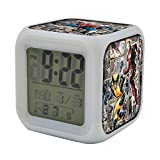 Superheroes Multi Image Digital LED Alarm Clock - Light up colours