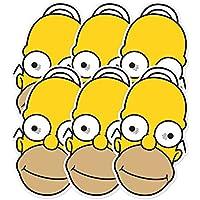 STAR Cutouts––stsmp257–6maschere per adulti Homer–I Simpson–Taglia unica