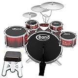 Jazz Rock Trommel-Set Kinder Kids Becken Musik Schlagzeug Spielset Hocker Spielzeug-Set Weihnachtsgeschenk