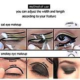 Schablonen für Katze Eyeliner und Smokey Augen Make-up Werkzeug,LDream® 2Pcs/Satz nette Smokey Katze-Eyeliner-Schönheits-Karten-Werkzeuge 2 Art-Eyeliner-Schablonen-Augenbraue-Schablonen - 4