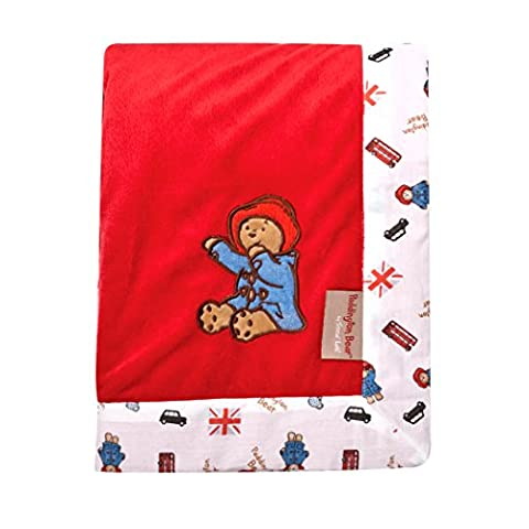 Trend Lab Paddington Bear Framed Red Velour Receiving