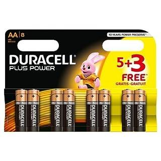 Duracell Plus Power - Pila alcalina AA ( 5 + 3 unidades gratis), 8 unidades (B0098XDNR2) | Amazon price tracker / tracking, Amazon price history charts, Amazon price watches, Amazon price drop alerts
