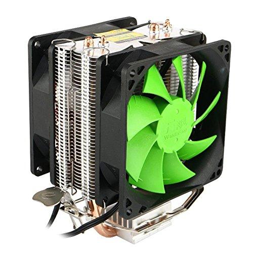 Prosperveil Dual Kupfer Rohre Dual Fans Hydraulische CPU-Kühler Heatpipe Fans Kühlkörper (6 Heatpipe)