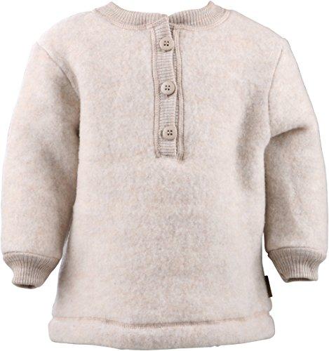 mikk-line mikk-line Unisex Sweatshirt Baby Woll-Shirt, Beige (Melange Offwhite 429), 56