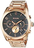 Nixon Damen-Armbanduhr Bullet All Rose Gold / Gunmetal Chronograph Quarz Edelstahl A3662046-00