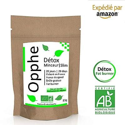 OHPPE The Vert Detox Minceur Brule Graisse Bio | 28 Jours Fat Burner Slim Tea | Thé Infusion Tisane Brûleur de Graisse| Ventre plat, Abdominaux Minceur Regime Perte de Poids [Satisfait ou remboursé]