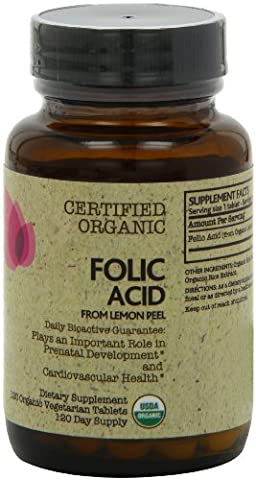 Futurbiotics Folic Acid Certified Organic 120 Veg Tablets