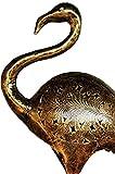 2er SET Garten Deko Figuren Reiher 73cm & 60cm aus Metall | XL Vintage Dekofiguren als Gartendeko | Tischdeko auf dem gedeckten Tisch | Tierfiguren als Kunstfiguren im Balkon oder Terrasse 2 Stück - 4
