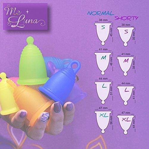 Me Luna Menstruationstasse Classic, Ring, Violett, Größe XL - 4