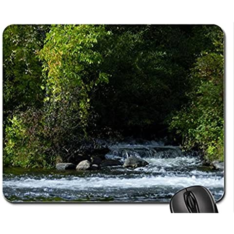 Mini Falls At Hope Mill Mouse Pad, Mousepad (Waterfalls Mouse Pad)