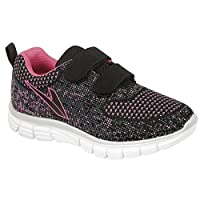 DEKS Infant Girls Superlight Weight Touch Fastening Jogger Mesh Trainers Shoes Size 8-2