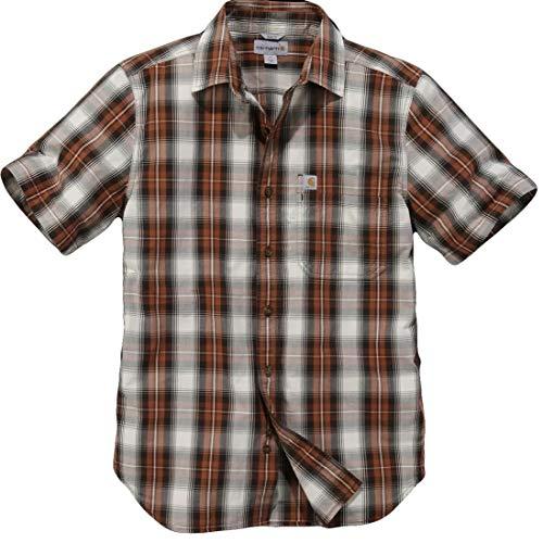 Carhartt Essential Open Collar S/S Shirt Plaid - Kurzarmhemd - Baumwoll-plaid Arbeitshemd