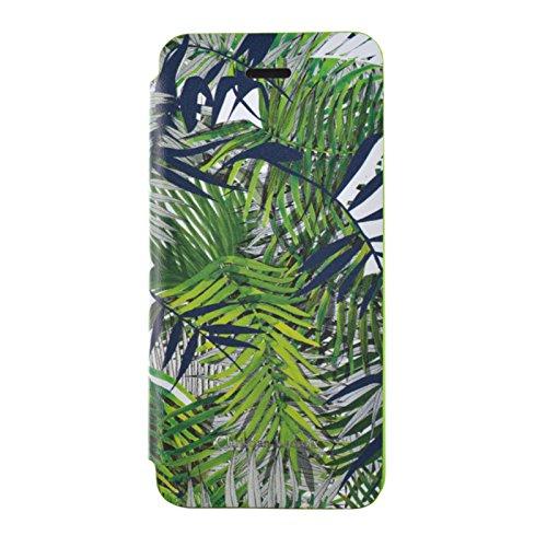 BigBen CL276876 Christian Lacroix Eden Rock-Custodia a portafoglio per iPhone 5/5S, colore: verde