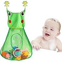 Preisvergleich für Tacobear Badespielzeug Aufbewahrung Frosch Badespielzeug Netz Aufbewahrungstasche Badezimmer Organizer mit 2 Saugnäpfe (ohne Spielzeug)