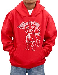 Personalised name diamante hooded sweatshirt xmas gift present puppy dog no2 hoodie kids -Various sizes & colours