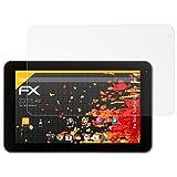 atFolix Panzerfolie kompatibel mit Xoro TelePad 9A1 Pro Schutzfolie, entspiegelnde & stoßdämpfende FX Folie (2X)