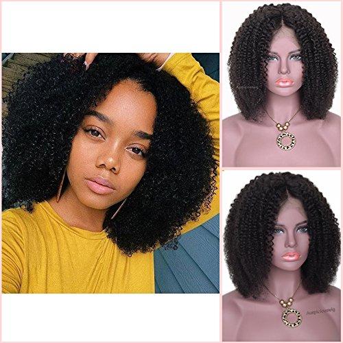 Auspiciouswig court Afro bouclés Bob Cheveux Vierges brésiliens Remy Full Lace Front Cheveux humains des Perruques pour femme noire