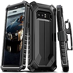 ELV Holster Defender 360 degree Heavy Duty Armor Full Body Protective with Belt Clip for Samsung Galaxy Note 8 - Black