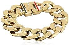 Tommy Hilfiger Bracciale da Donna, in Acciaio Inossidabile, Classic Signature, 19 cm, 270070, Acciaio Inossidabile, Colore: Gold, cod. 2700702