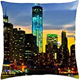 """freedom tower in nyc - Throw Pillow Cover Case (18"""" x 18"""")"""