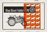 Steyr diesel 18 Ps traktor Trekker Schlepper schild aus blech, metal sign, tin