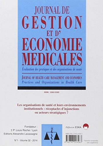 Journal de gestion et d'économie médicales : Volume 32 N°1/2014