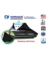 TUFFPAULIN (30X30,Black) Tarpaulin Waterproof UV Treated 100% Virgin Extra Strong Quality is 14611:2016 Approved 150 GSM