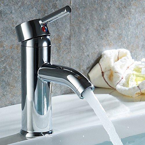 Inchant Einhand-Loch Badezimmer-Behälter-Wannen-Hahn-weit verbreiteter modernen Waschtischmischer-Hahn, Chrom poliert Lavaotry Mischerhähne Badewanne Wasserhahn