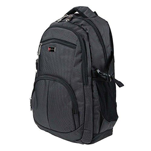 City Rucksack Schule Arbeit & Freizeit Bag Schulrucksack Sportrucksack Backpack Laptoprucksack Laptopfach 15 + 1 Produkt nach Wahl (Schwarz+1 Wildleder Etui)