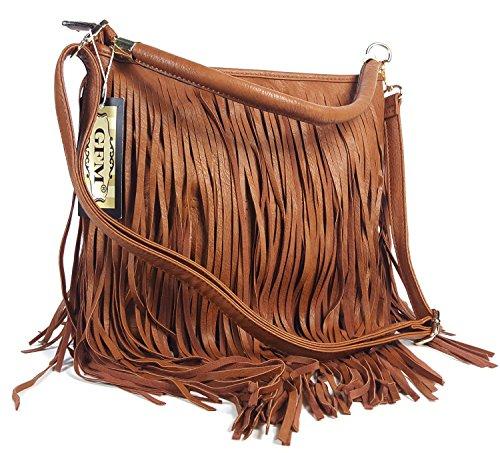 GFM, Borsa a tracolla donna Style 3 - Tan (CHMD00)