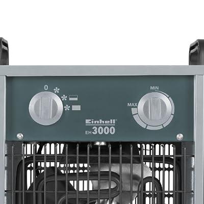 Einhell Elektro Heizer EH 3000 (3000 Watt, 2 Heizstufen und Ventilatorbetrieb, Thermostat, Spritzwasserschutz, Tragegriff, robustes Gehäuse) von Einhell bei Heizstrahler Onlineshop