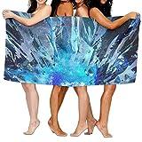 DSJFHS Serviette de Bain - 31x51 inch High Absorbency Bath Towel Crystal Blue Black...