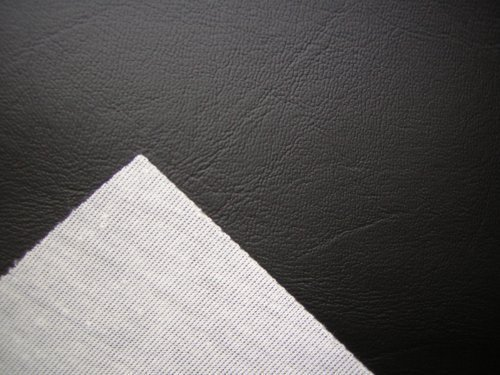 BLACK VINYL FAUX LEATHER FROM THE FABRIC BARN , LEATHERETTE UPHOLSTERY FABRIC - ATLANTA by the metre