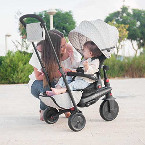 smarTrike smarTfold 700 Folding Baby Tricycle for 1 Year Old, Warm Grey/ Beige
