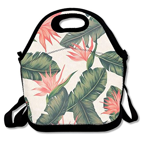 01ff47b13730 Tropical Print Printing Lunch Bags Insulated Zip Cooler Bag Portable  Takeaway Film Pack Cooler Bag Lunch