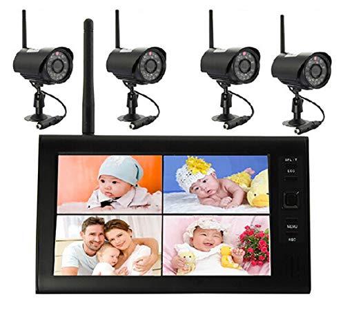 Sichere Babyphones Überwachung Baby Monitor Digital Kamera mit 1/2/4 Kameras 2,4 GHz WLAN 7.0' LCD Monitor Sicherheit System Integrierter IR-Beleuchtung für Nachtsicht (1/2/4 Kameras verpackt)