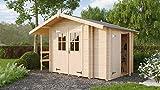 Lasita Maja Vilano 2 - Gartenhaus in Blockbohlenbauweise für Schnelle Montage