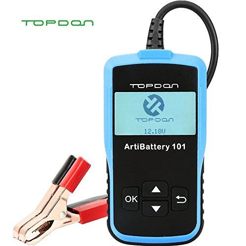 Topdon Artibattery101 - Testeur de Batterie de Voiture 12 V 100-2000 CCA - Test Automobile / Démarrage / Charge de Batterie