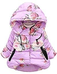 3e59d6c470374 Innerternet Manteau Coupe-Vent à Capuche Chaud Parka Enfant BéBé Fille  GarçOn Hiver Fourrure avec
