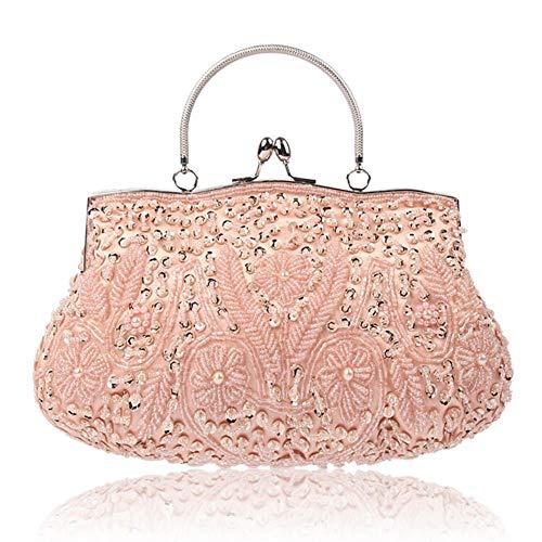 Perlen Bestickte Abendtasche (Decaden Clutch, Damentasche Abendtasche,Handgemachte Perlen Bestickte Kleidertasche Abendtasche)