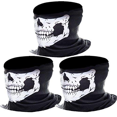 ädel Gesicht Schlauch Maske Motorrad Gesichtsmaske (Weiß) ()