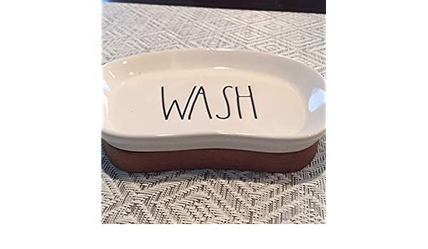 - Soap Dish Rae Dunn by Magenta Bathroom Accessories LL Large Letter Cups Brush Holder Soap Pump line Design Soap Dish Trash Can Wash Organizers