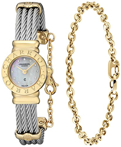 charriol-damen-20mm-silber-delstahl-armband-gehuse-uhr-st20cy1520ro004