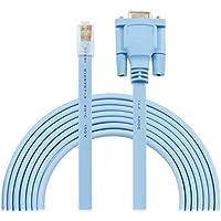DB9a RJ45–Cable puerto serie DB9RS232de 9pines a RJ45CAT5Ethernet LAN Cable Interruptor de consola Rollover línea–Longitud del Cable 1,8m