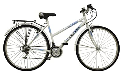 Classic Women's Touriste Commuter Bike - White ( Wheel 700C, Frame 19 Inch)
